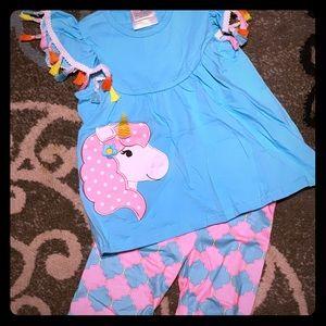 Girls unicorn outfit